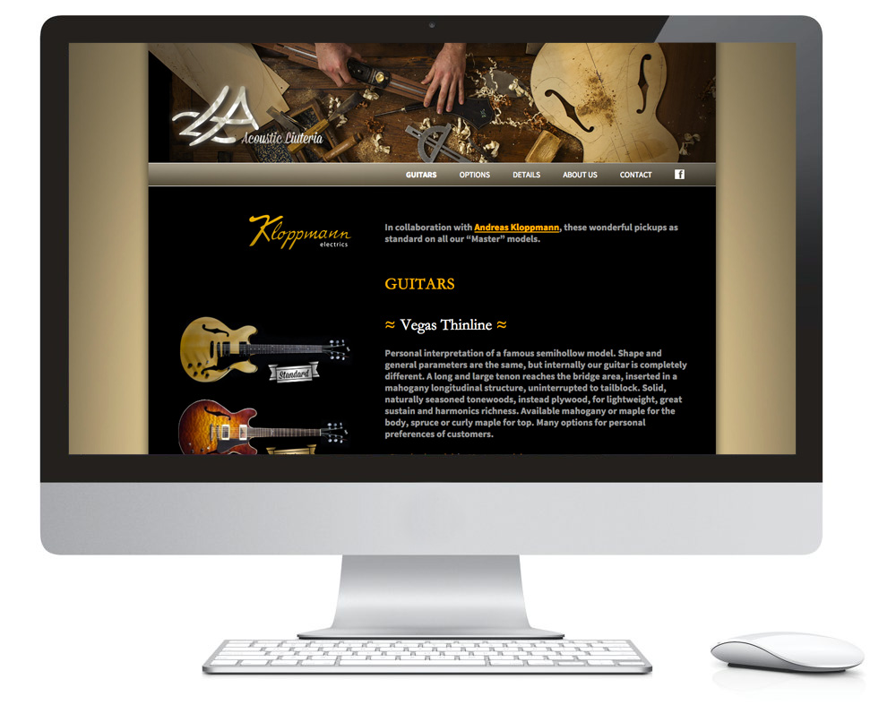 Acoustic Liuteria – web site